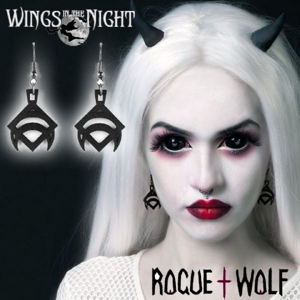 The Rogue + The Wolf DRACO Gothic Black Earrings
